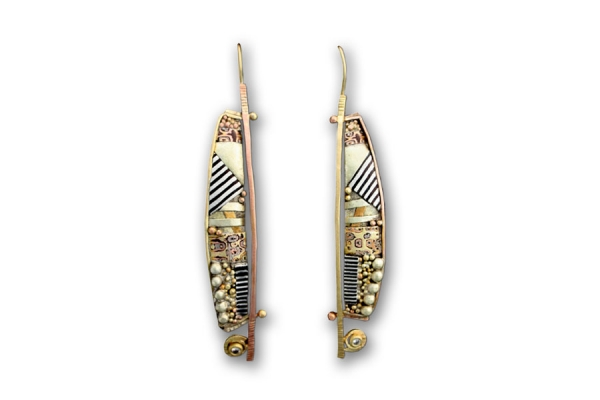 Tunitis Creek Long Diamond Earrings