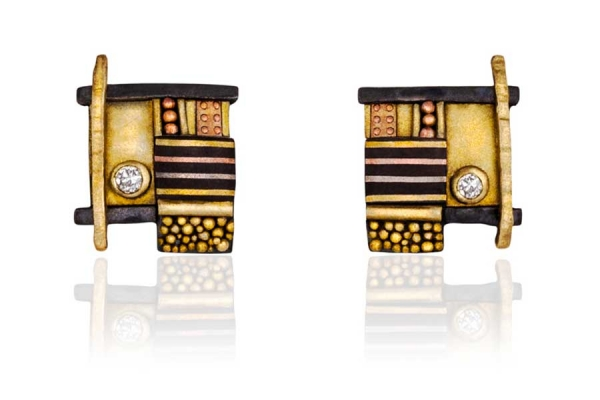 Tunitis Creek Custom Diamond Post Earrings