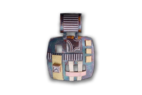 Pilarcitos Creek Small Square Pendant