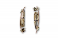 Tunitis Creek Andalusite & Green Diamond Earrings