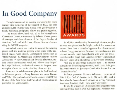 Niche Magazine: In Good Company