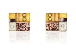 Tunitis Creek Small Square Diamond Post Earrings