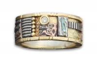Yellow Gold Tunitis Creek Mosaic Ring with Diamond