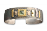 Pilarcitos Creek Peridot and Diamond Cuff