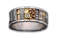 Tunitis Creek Mosaic Pattern Band with Diamond
