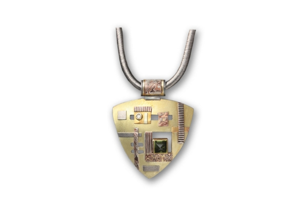 Lobitos Creek Peridot & Diamond Pendant