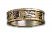 18K Yellow Gold Tunitis Creek Ring with Diamond