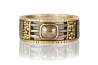 Tunitis Creek Rustic Diamond Mosaic Anniversary Band