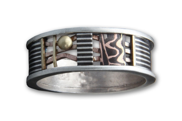 Textured Silver Davenport Zoey Ring